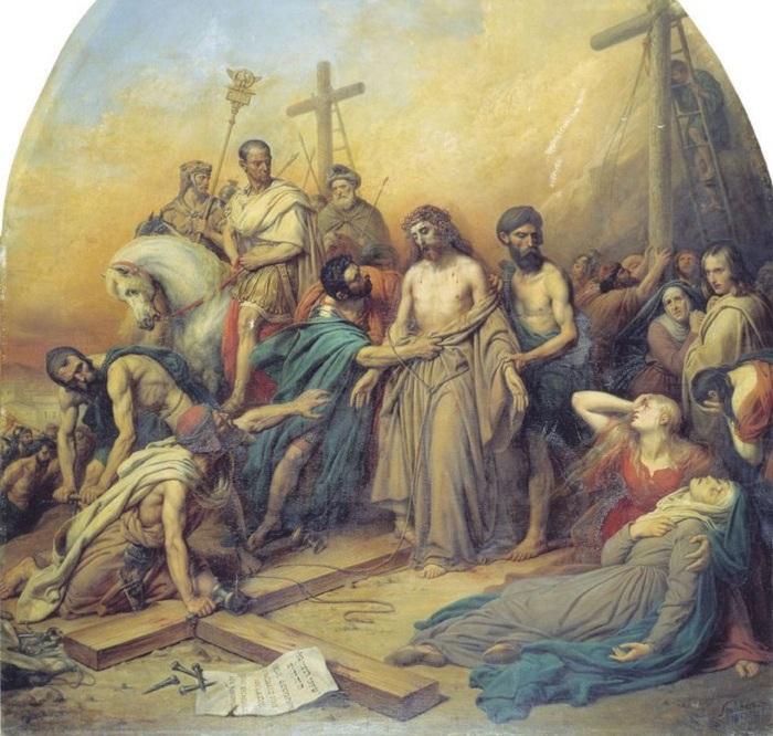 На Голгофе. (1841). Автор: Штейбен Карл Карлович.