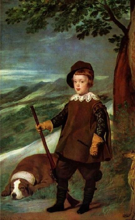 Портрет принца Балтазара Карлоса в охотничьей одежде. Автор: Диего Веласкес.