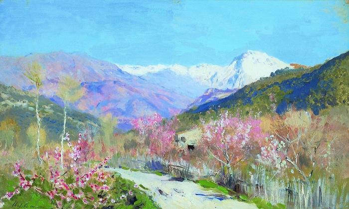 Весна в Италии. (1890). Автор: Исаак Левитан.