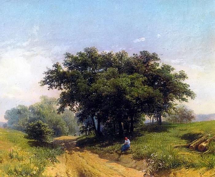 Летний жаркий день. (1869 год). Автор: Федор Васильев.