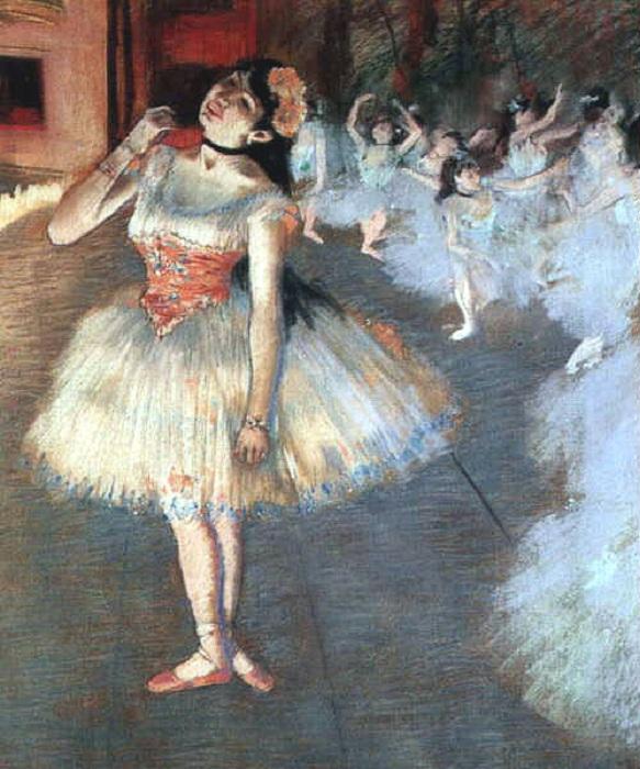 Пастельная живопись Эдгара Дега из цикла «Танцовщицы». Автор: Эдгар Дега.