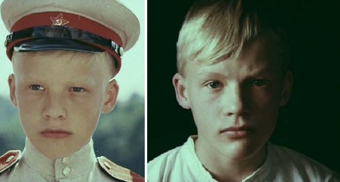 Кадр из кинофильма с участием Алексея Серебрякова «Алые погоны».