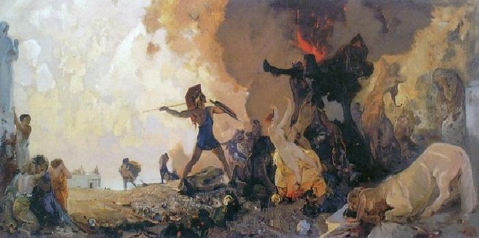 «Битва кентавров и амазонок».  Автор: Иван Мясоедов.