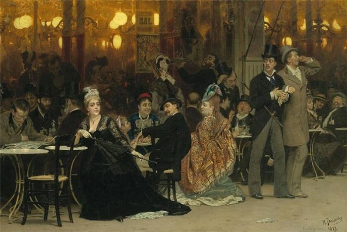 «Парижское кафе».(1875). Автор: Илья Репин.