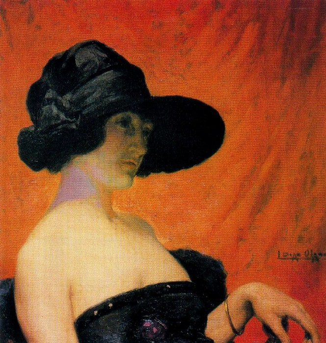 «Жена художника». (1912 год). Автор: Сальвадор Диас Игнасио Руис де Олано.
