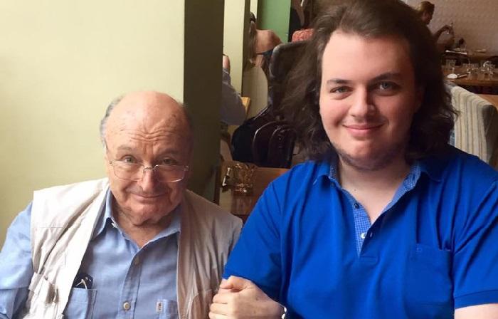 Михаил Жванецкий с сыном Дмитрием.