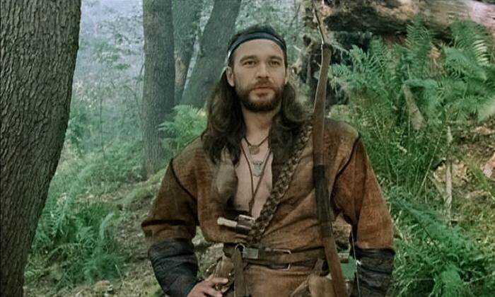 Михал Жебровский к роли славного воина Земовита в кинофильме «Когда солнце было богом».
