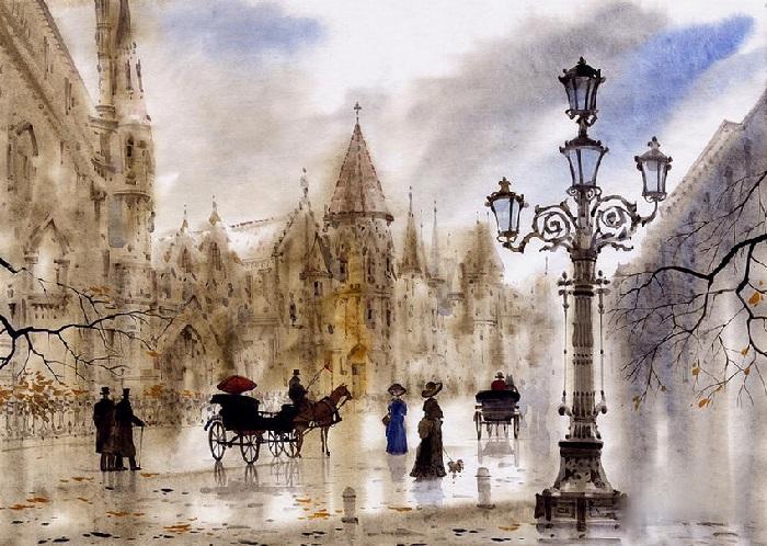 Париж. Туманные пейзажи от Светланы и Сабира Гаджиевых.