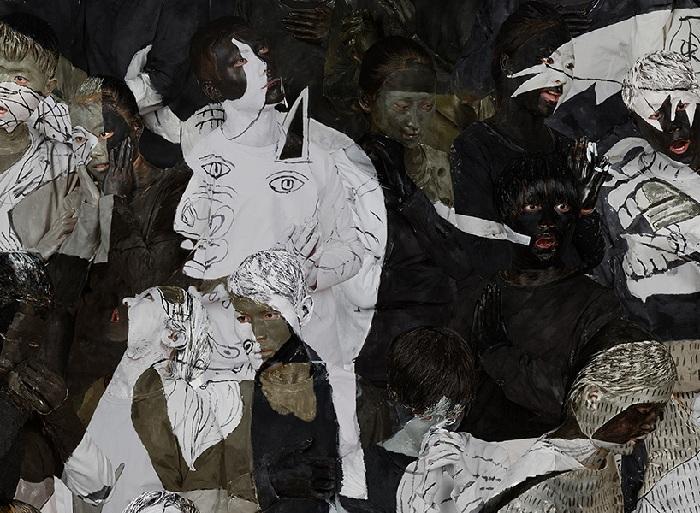 Имитация полотна «Герники» Пабло Пикассо.