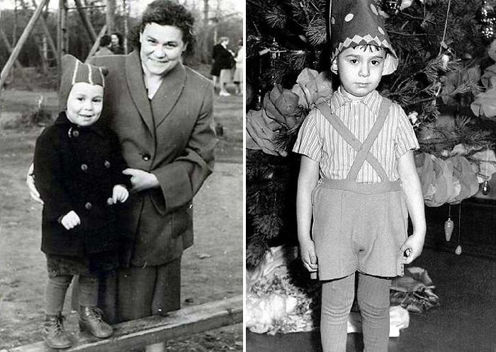 Ефим Шифрин с мамой.