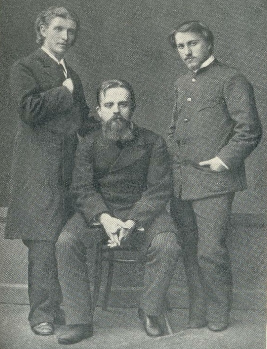 М.А. Врубель, В. Д. Дервиз, В.А. Серов1883-1884 годы.