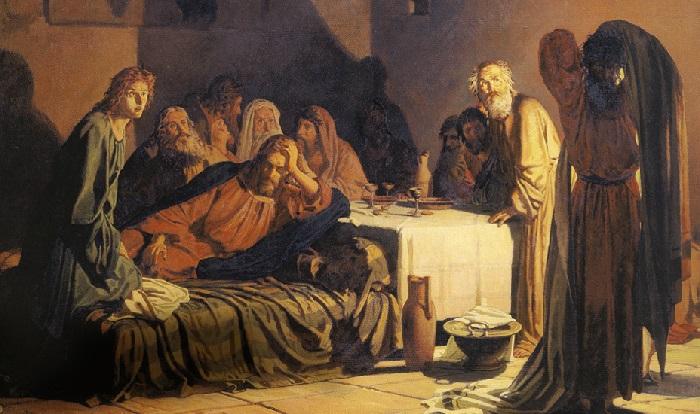 «Тайная вечеря». (1863 год). Художник: Николай Ге.