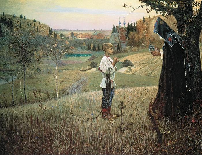 Видение отроку Варфоломею. (1889—1890). Автор: Михаил Нестеров.