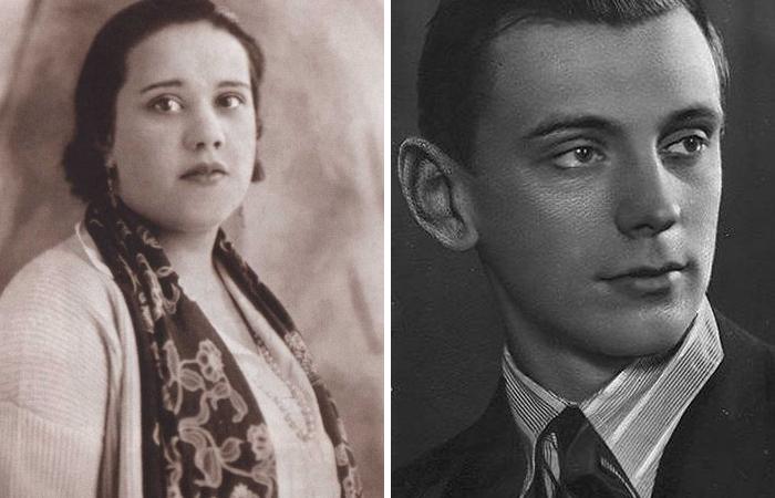 Наталья Кончаловская и Сергей Михалков.