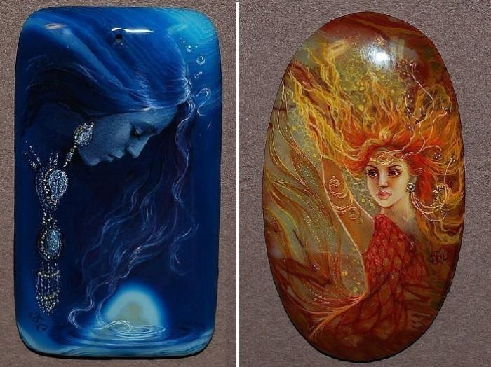 Стихия воды и огня.  Автор: Светлана Беловодова.