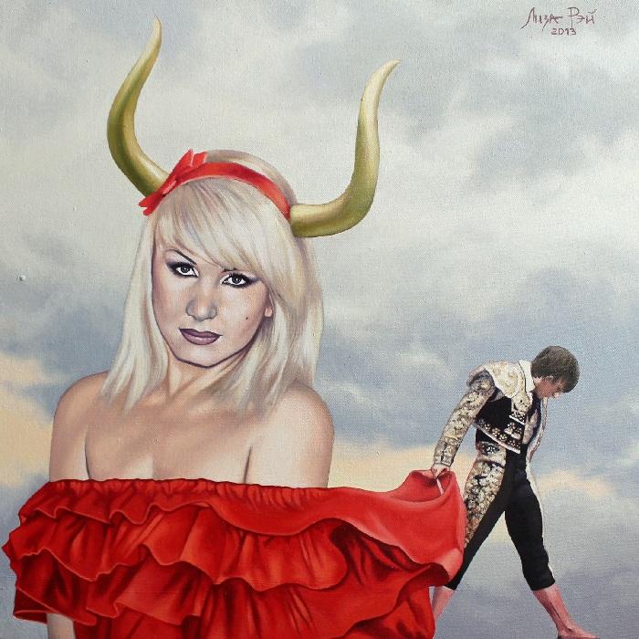 Лиза Рэй - художница-сюрреалист из Казахстана. Автопортрет.