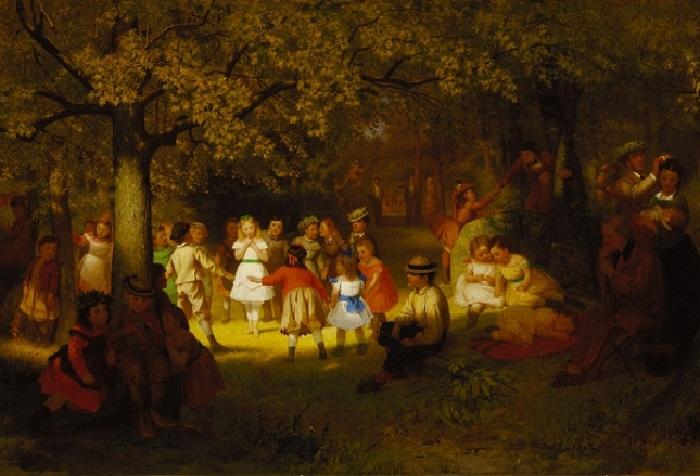 Джон Джордж Браун (1831-1913). Англия. Пикник в лесу.
