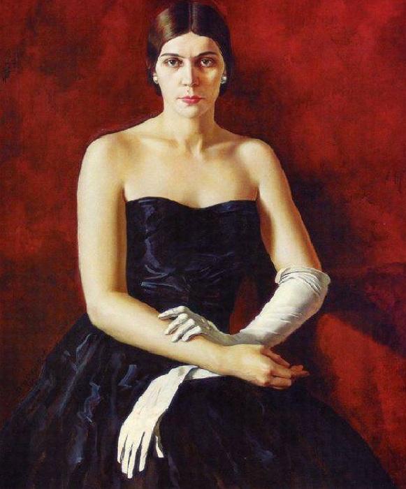 Портрет Ирины Рахманиновой, дочери Сергея Рахманинова.