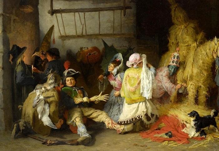 «Карнавал в Бретани». Автор: Фредерик Артур Бриджмен.| Фото: gallerix.ru.