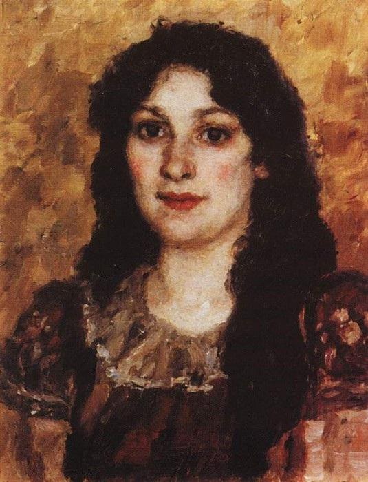 Портрет жены художника. Автор: Василий Суриков.