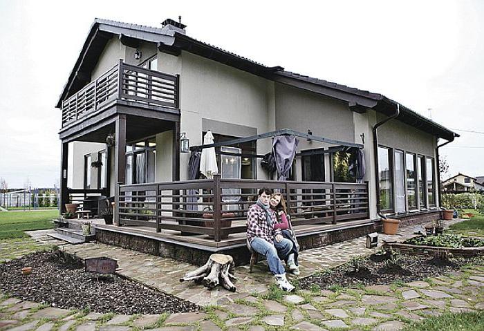 Загородный дом Евгения Дятлова, построенный в американском стиле.