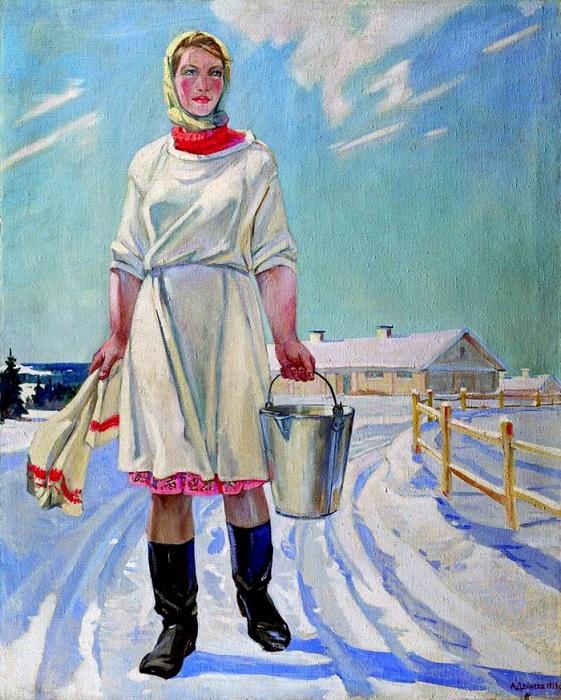 Александр Дейнека. Доярка. (1959 год).