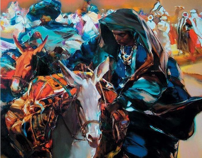 Африка. Из цикла «Шелковый путь». Автор: Валерий Блохин.