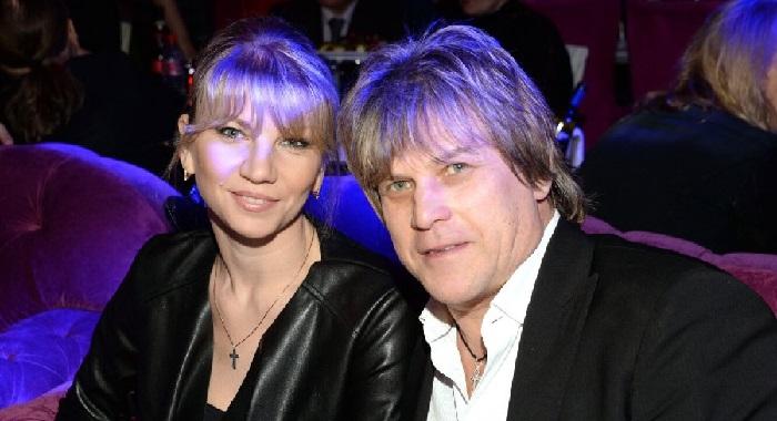 Алексей Глызин со второй супругой.