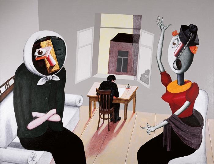 «За столом. Портрет художника в юности.» Живопись от Виктора Пивоварова.