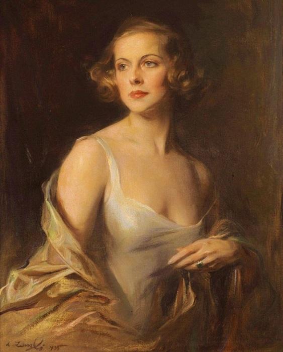 Хелен Шарлотта де Беркли-Ричард, 1935 год. Автор: Филипп Алексис де Ласло.