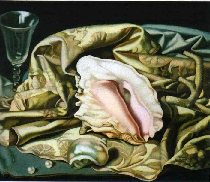 Натюрморт с раковиной. Автор: Тамара де Лемпицка.