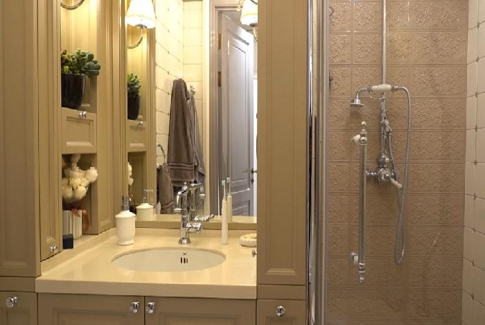 Ванная комната в квартире Надежды Бабкиной. | Фото: lady.mail.ru..
