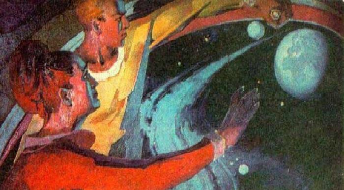 «Прощание с Землёй». Художник: Геннадий Голобоков.