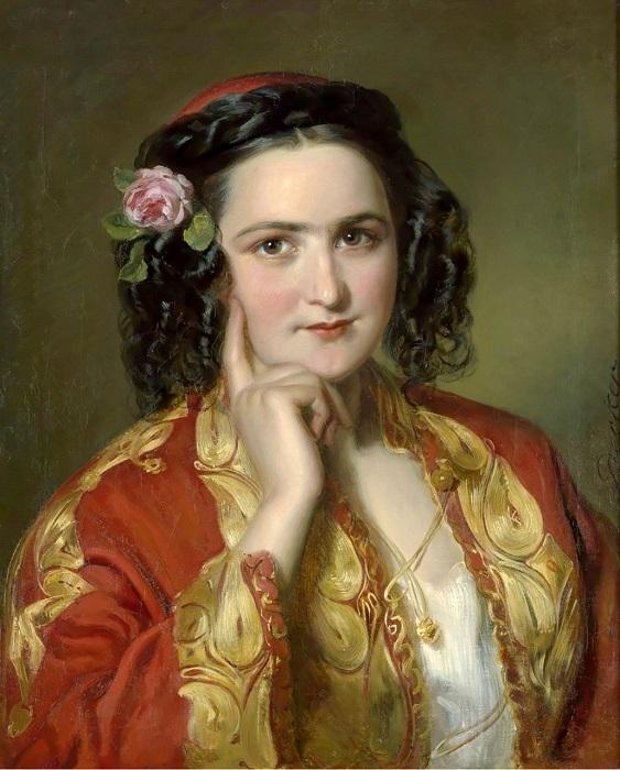 Портрет дамы в греческом костюме. Автор: Gеorg Decker.