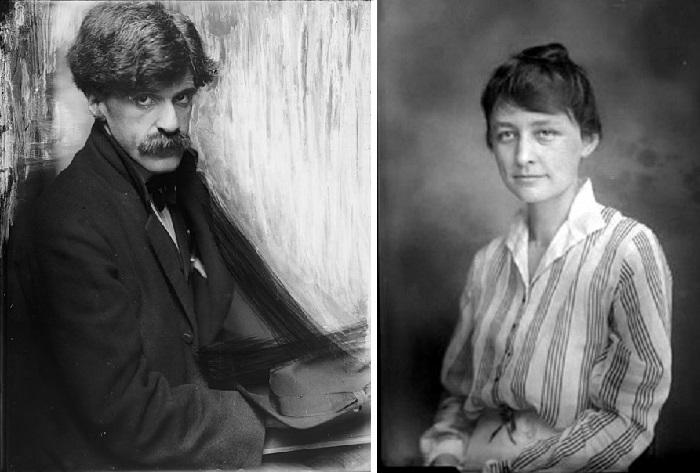 Альфред Стиглиц - талантливый американский фотограф. (1902 год). / Джорджия О'Кифф в молодости.