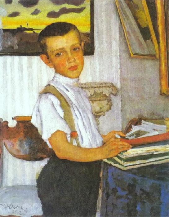 Портрет Бори Юона, сына Ñудожника. (1912 год). Автор: Константин Юон.