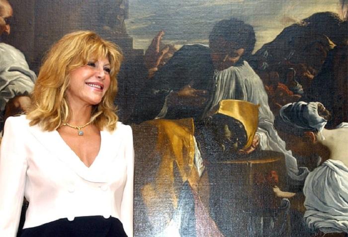 Фиона фон Тиссен на презентации выставки.