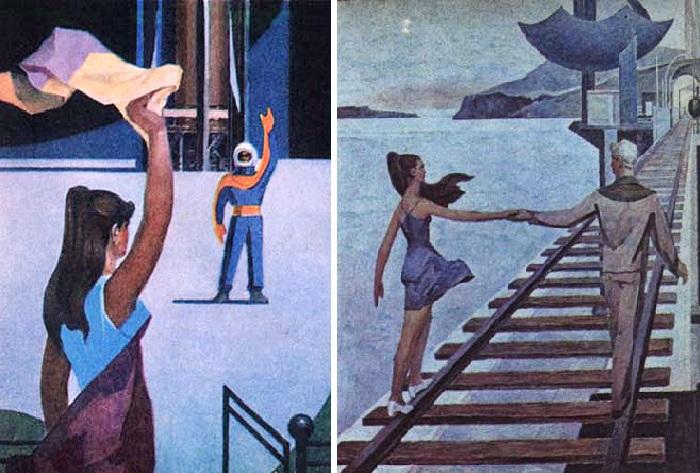 «Прощание». / «Мост над пропастью». Художник: Геннадий Голобоков.