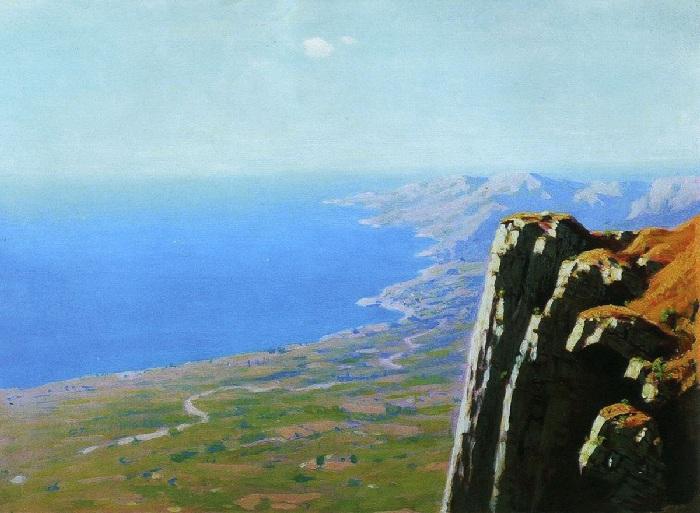 Берег моря со скалой. Автор: Архип Куинджи.