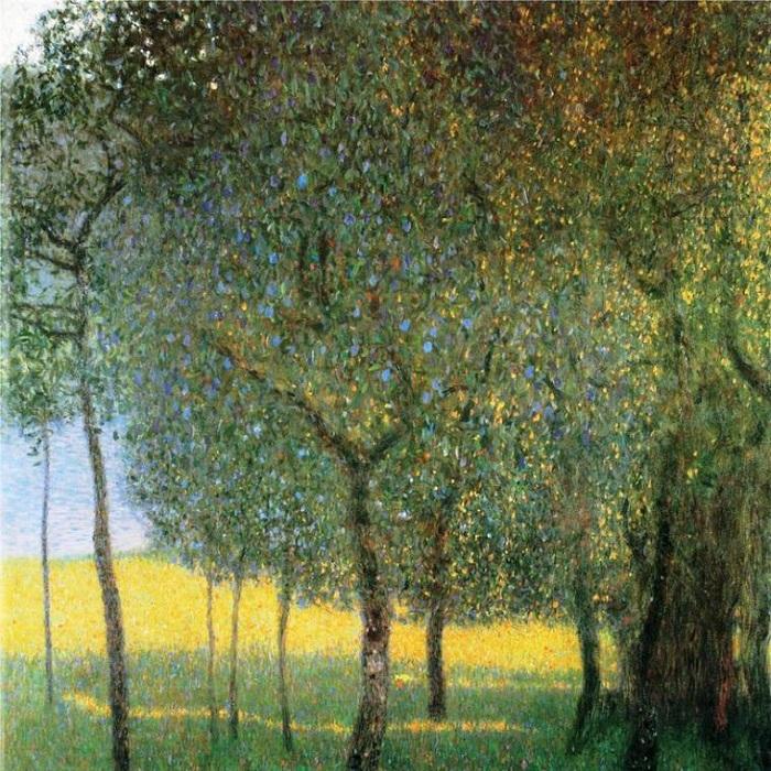 Фруктовые деревья. (1901год). Автор: Gustav Klimt.