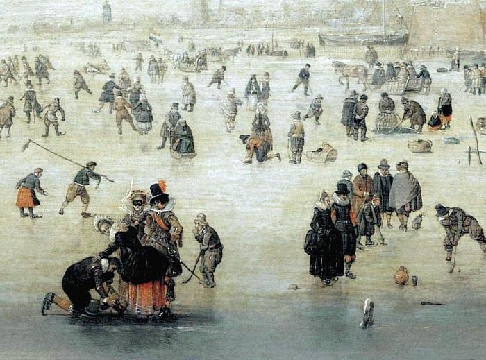 Катание на коньках. (Фрагмент).