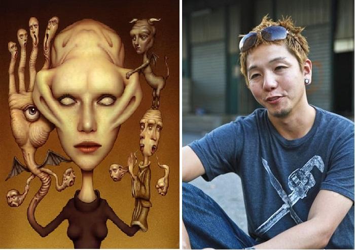 Японский художник Naoto Hattori.