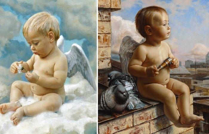 Маленькие ангелочки. Автор: Вячеслав Грошев.
