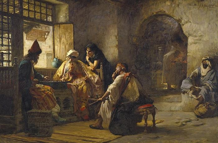 Интересная игра , около 1881 Фредерик Артур Бриджмен.| Фото: gallerix.ru.