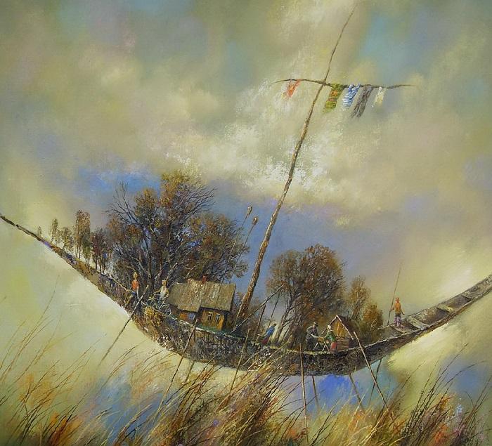 Лодка моего детства. Автор: Анатолий Концуб.