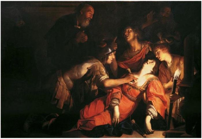 Смерть Лукреции. (1620 год ). Автор: Франческо Рустичи.