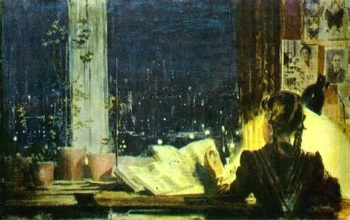 Огни университета. Автор: Юрий Пименов.