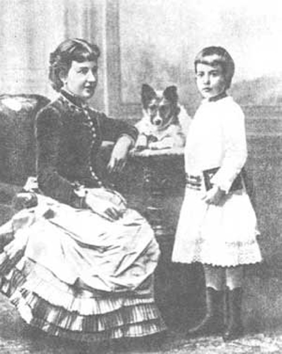 Софья Ковалевская с дочерью.