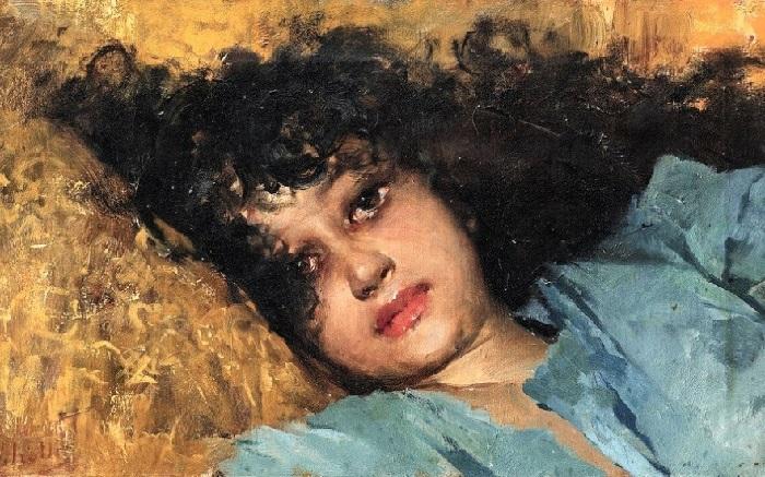 Портрет юной леди (Portrait of a Young Lady). Автор: Винченцо Иролли.| Фото: gallerix.ru.