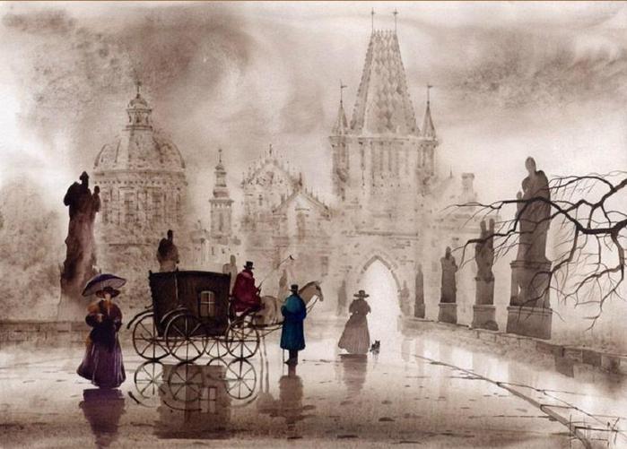 Прага. Туманные пейзажи от Светланы и Сабира Гаджиевых.